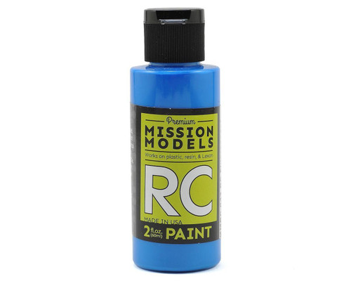 Mission Models RC047 Fluorescent Racing Blue Acrylic Lexan Body Paint (2oz)