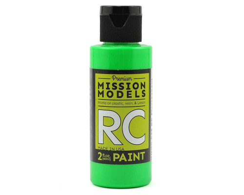 Mission Models RC048 Fluorescent Racing Green Acrylic Lexan Body Paint (2oz)