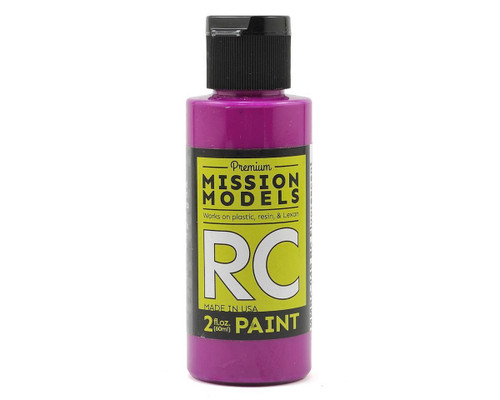 Mission Models RC049 Fluorescent Racing Violet Acrylic Lexan Body Paint (2oz)
