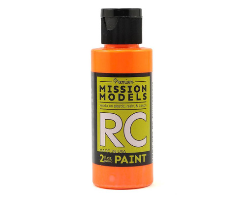 Mission Models RC050 Fluorescent Racing Bright Orange Acrylic Lexan Body Paint (2oz)