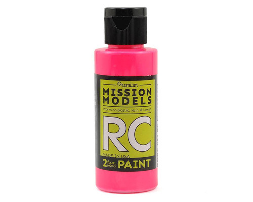 Mission Models RC051 Fluorescent Racing Pink Acrylic Lexan Body Paint (2oz)