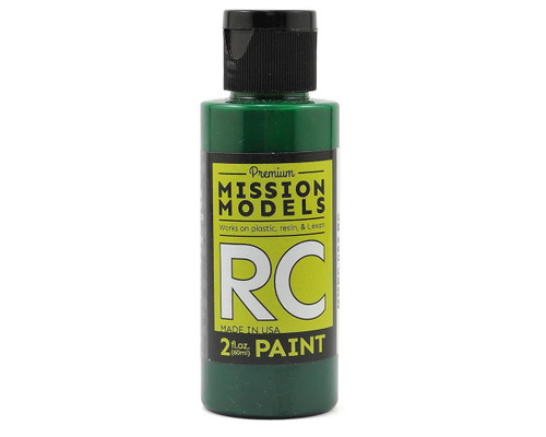 Mission Models RC052 Translucent Green Acrylic Lexan Body Paint (2oz)