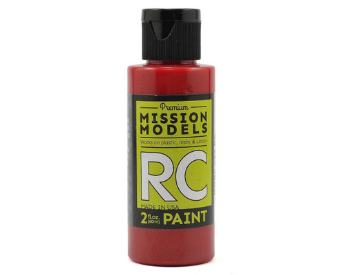 Mission Models RC054 Translucent Red Acrylic Lexan Body Paint (2oz)