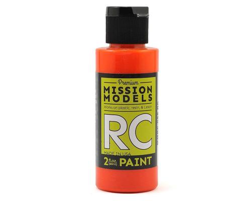 Mission Models RC055 Translucent Orange Acrylic Lexan Body Paint (2oz)
