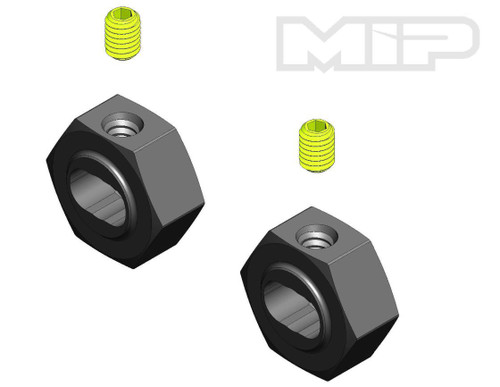 MIP 12140 12mm X-DUTY Keyed CVD Hex Adapter Set (2)