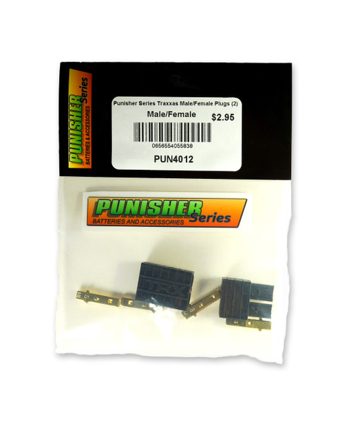 Punisher Series PUN4012 Traxxas Male/Female Plugs (2)