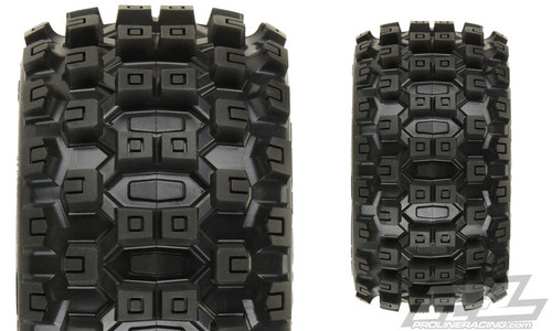 "Pro-Line Badlands MX28 2.8"" Pre-Mounted Tires w/Raid 6x30 Wheels w/ Removable Hex (Black) (2)"