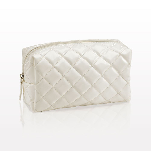 White portable cosmetics bag