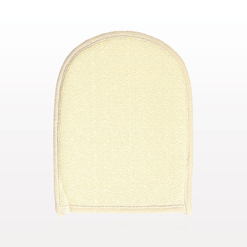 Gentle exfoliating bath mitt to cleanse and renew skin with ease. Hang to dry using the convenient attached loop.