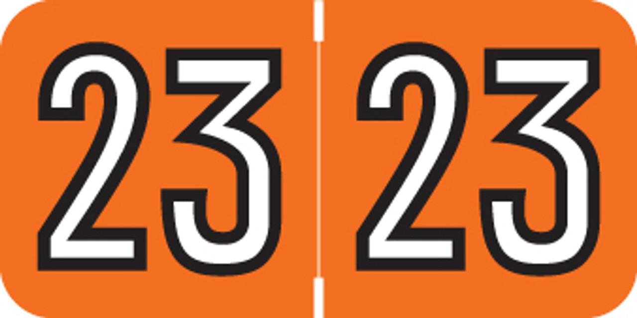 Orange 3//4H x 1-1//2W Laminated Jeter Compatible Solid Designation Label Roll of 500