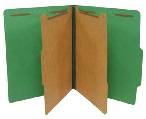 Classification Folder 2 pt Kraft 6 in 1; 2 ¼Ã¢Â€Â Expansion Bright Emerald Green, Letter Size