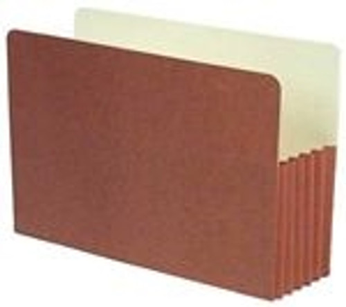 "Redweld Brand Expanding File folder, 5 1/4"" Accordion Expansion, Paper Gusset, Legal Size - Carton of 50"