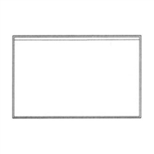 "Adhesive Back Vinyl Pocket -  9"" x 5-3/4"" - Clear - 100/Pack"