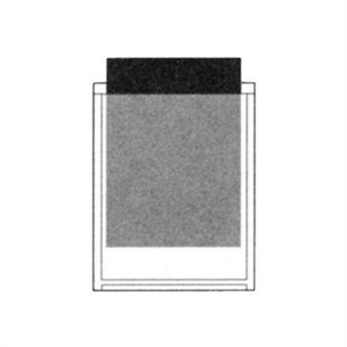 "Adhesive Back Poly Pocket - 5"" x 6-1/2"" - Clear - 100/Pack"
