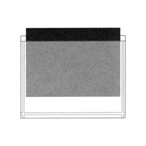 "Adhesive Back Poly Pocket - 11"" x 9"" Overall (10-1/2"" x 8-1/2"" Inside Dimension)- Clear - 100/Pack"