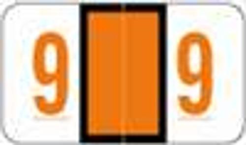 POS Numeric Label - 3500 Series (Rolls) - 9 - Orange