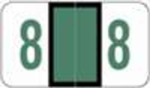 POS Numeric Label - 3500 Series (Rolls) - 8 - Dk. Green