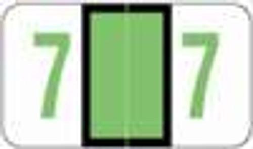 POS Numeric Label - 3500 Series (Rolls) - 7 - Lt. Green