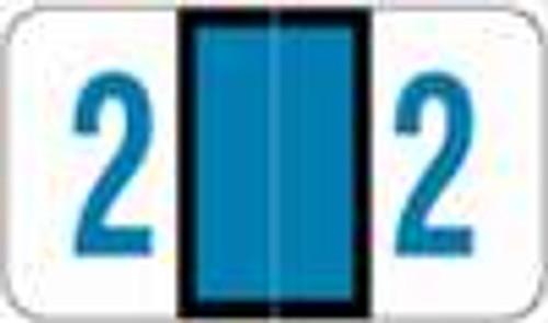 POS Numeric Label - 3500 Series (Rolls) - 2 - Blue
