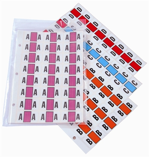 POS Alphabetic Labels - 2000 Series (Sheets for binder) - Complete Set A-Z+ Mc 1 Pack Each