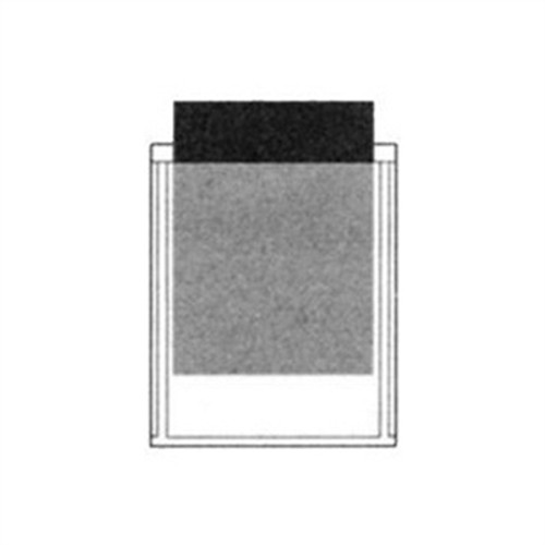 """Adhesive Back Poly Pocket - 4-1/4"""" x 5-1/2"""" - Clear - 100/Pack"""