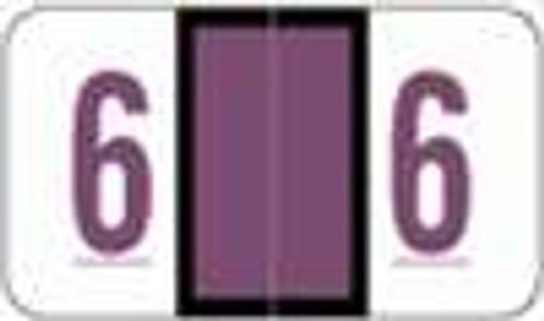 POS Numeric Label - 3500 Series (Rolls) - 6 - Purple