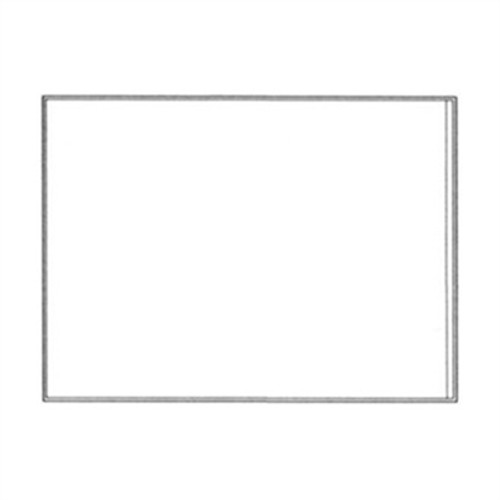 "Adhesive Back Vinyl Pocket -  9"" x 11-1/2"" - Clear - 100/Pack"