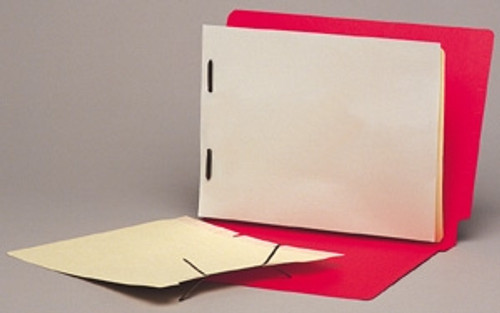 "Self Adhesive Folder Divider with 1"" crimp-on duo fastener - 11 Pt. Manila Stock -  Box of 100"