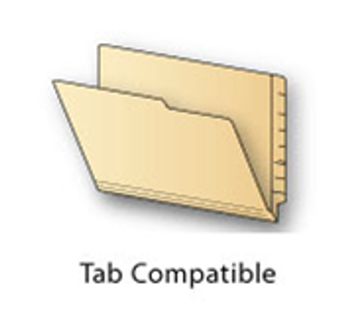 """Tab Compatible Conversion Folder - Reinforced End Tab Folder with Undercut on Front Flap for Labeling -  Letter Size 9-1/2"""" x 12 -  11 Pt. Manila - 100/Box"""