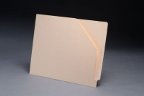 Tab Compatible File Jacket with Diagonal Cut - 11 Pt. Manila - Letter Size - 100/Box