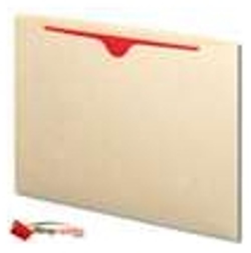 Tab Compatible Dental Style File Jacket - 11 PT. Manila - Letter Size -  Single Ply Full End Tab - Thumb Cut - Box of 100