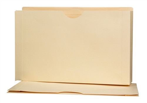 "Top Tab One Piece folder w/ 3"" Accordion Expansion - Manila - Legal Size - Reinforced Back Tab - 100/Box"