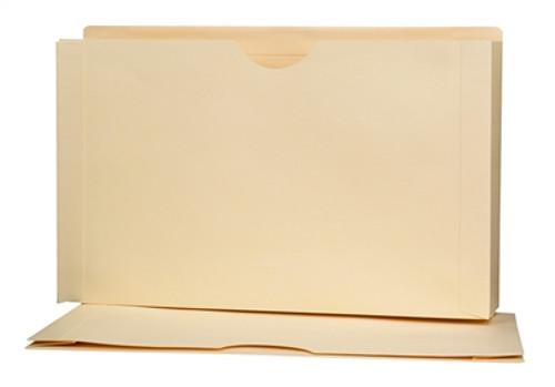 "Top Tab One Piece folder w/ 3"" Accordion Expansion - Manila - Legal Size - Reinforced Back Tab - 100/Box"