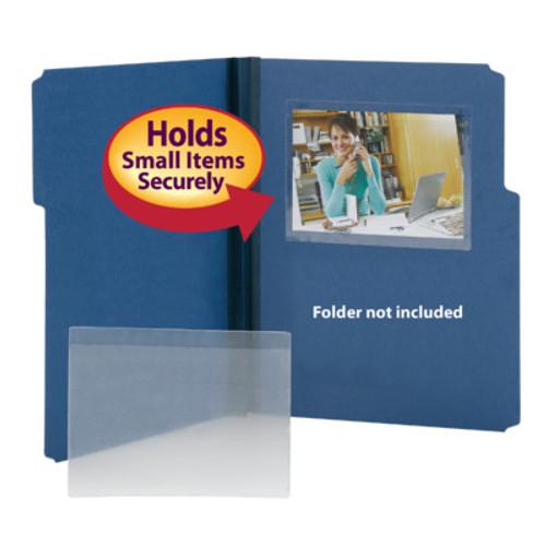 "Poly Pocket - Self Adhesive - 6-1/2"" W x 4-1/2"" H - Box of 100"