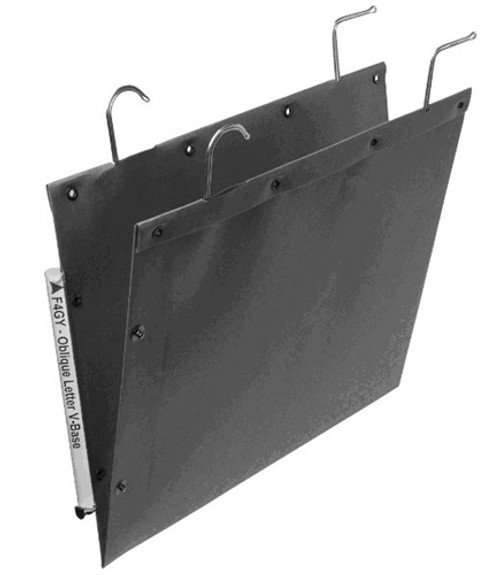 Oblique Legal Size Hanging Compartment - LC Long V-Base - Gray - Box of 25