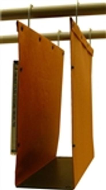 Oblique Letter Size High Density Hanging Compartment - F4 115 mm Box-Base - Orange - Box of 25