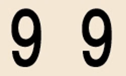 Manila Numeric Labels - MNNM Series - 9 - Manila