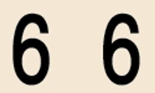 Manila Numeric Labels - MNNM Series - 6 - Manila