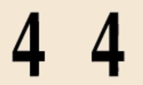 Manila Numeric Labels - MNNM Series - 4 - Manila