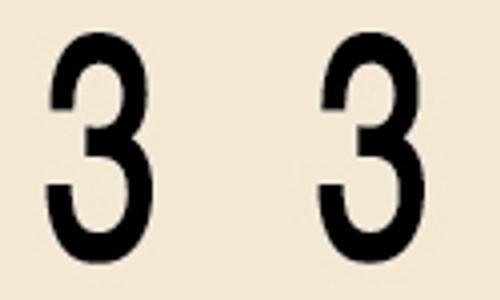 Manila Numeric Labels - MNNM Series - 3 - Manila