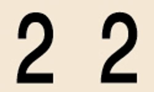 Manila Numeric Labels - MNNM Series - 2 - Manila