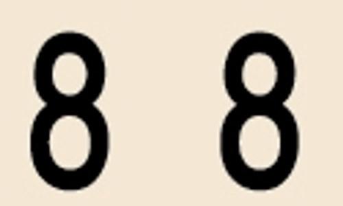 Manila Numeric Labels - MNNM Series - 8 - Manila