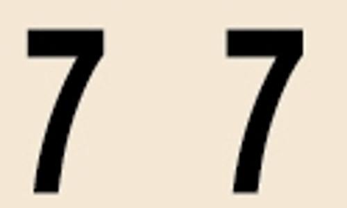 Manila Numeric Labels - MNNM Series - 7 - Manila