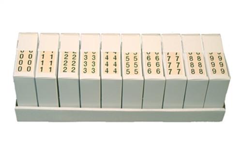 Manila Numeric Labels - MNNM Series - Complete Set 0-9 - Manila