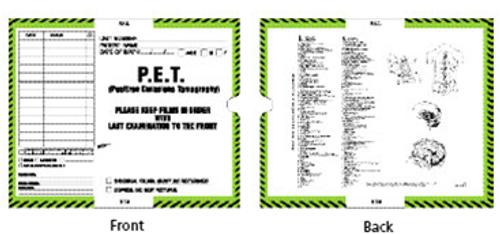 Medical Folder P.E.T. Mini Category Insert Jacket.  Border Color- Light Green, Black.  Open Top.  500 per Carton.