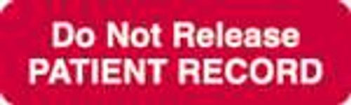 Do Not Release Patient Record Label