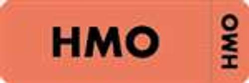 """HMO"" Label - FL. Red - 3"" x 1"" - Box of 250"