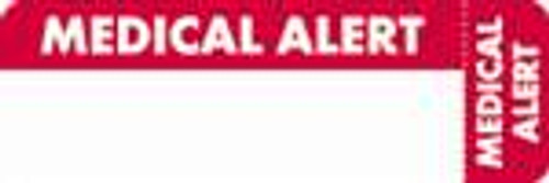 """Medical Alert"" Label - White/Red - 3"" x 1"" - 250 Labels/Box"