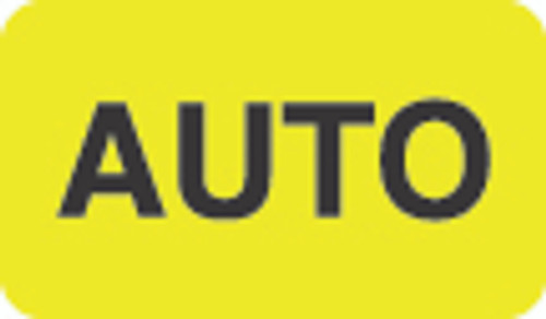 """Auto"" Label - Fl. Yellow - 1-1/2"" x 7/8"" - 250/Box"