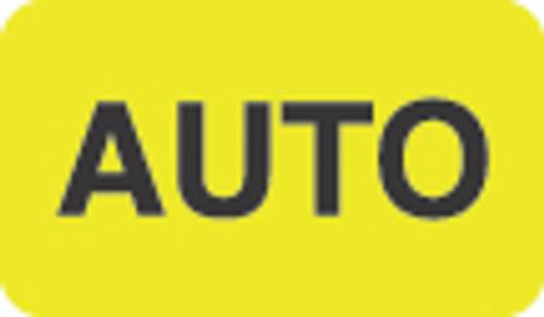"""""""Auto"""" Label - Fl. Yellow - 1-1/2"""" x 7/8"""" - 250/Box"""